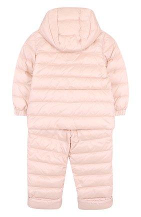 Детский пуховый комплект из куртки и комбинезона MONCLER ENFANT светло-розового цвета, арт. D1-951-70340-05-53048 | Фото 2