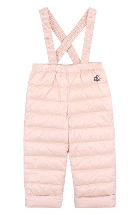Детский пуховый комплект из куртки и комбинезона MONCLER ENFANT светло-розового цвета, арт. D1-951-70340-05-53048 | Фото 3