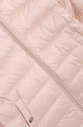 Детский пуховый комплект из куртки и комбинезона MONCLER ENFANT светло-розового цвета, арт. D1-951-70340-05-53048 | Фото 4
