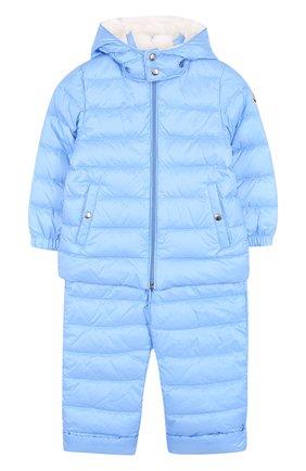 Детский пуховый комплект из куртки и комбинезона MONCLER ENFANT голубого цвета, арт. D1-951-70340-05-53048 | Фото 1