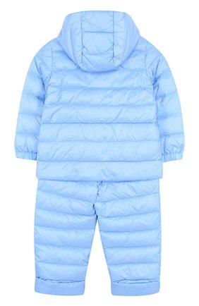 Детский пуховый комплект из куртки и комбинезона MONCLER ENFANT голубого цвета, арт. D1-951-70340-05-53048 | Фото 2