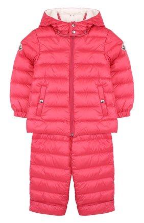 Детский пуховый комплект из куртки и комбинезона MONCLER ENFANT красного цвета, арт. D1-951-70340-05-53048 | Фото 1