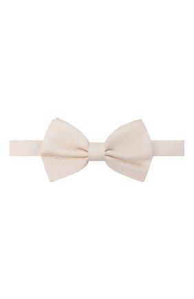 Мужской шелковый галстук-бабочка DOLCE & GABBANA белого цвета, арт. GR053E/G0U05 | Фото 1