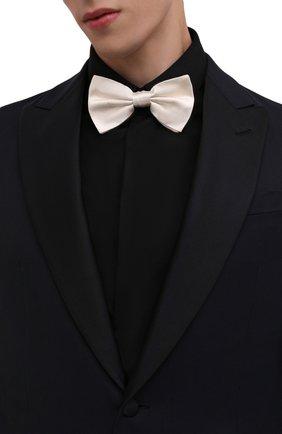 Мужской шелковый галстук-бабочка DOLCE & GABBANA белого цвета, арт. GR053E/G0U05 | Фото 2