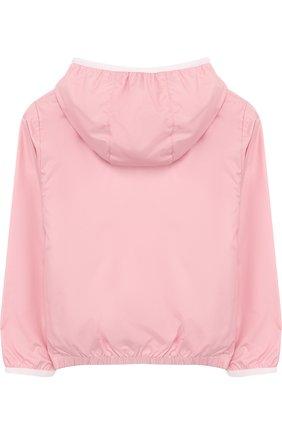 Ветровка на молнии с капюшоном Fay Junior розового цвета | Фото №1