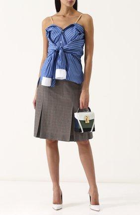 Женская хлопковая блуза в контрастную полоску Maison Margiela, цвет синий, арт. S29DL0120/S48843 в ЦУМ | Фото №1