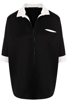 Блуза свободного кроя с коротким рукавом | Фото №1