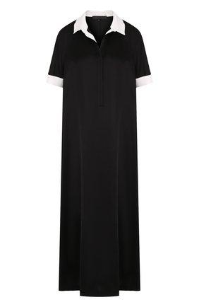 Платье-рубашка свободного кроя с коротким рукавом | Фото №1