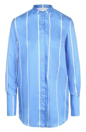 Блуза свободного кроя с воротником-стойкой | Фото №1