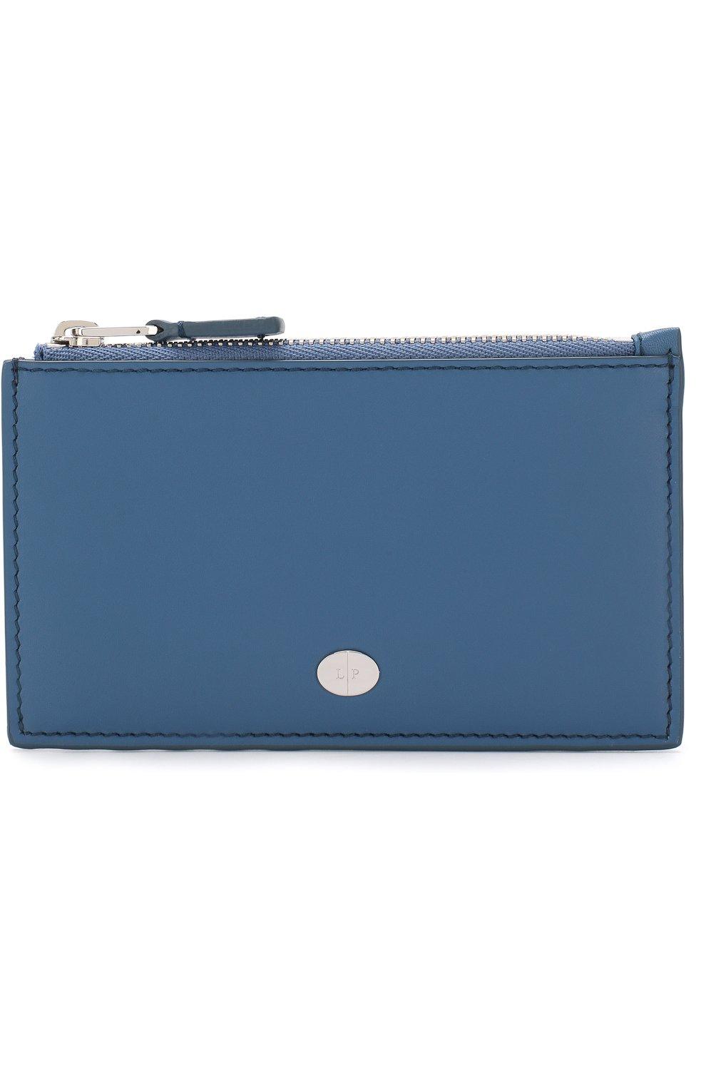 Женский кожаный футляр для кредитных карт LORO PIANA синего цвета, арт. FAI0944 | Фото 1