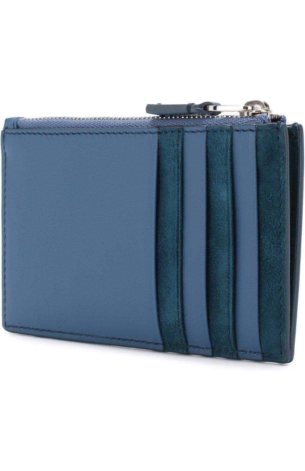 Женский кожаный футляр для кредитных карт LORO PIANA синего цвета, арт. FAI0944 | Фото 2