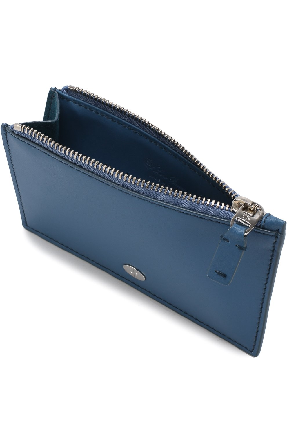 Женский кожаный футляр для кредитных карт LORO PIANA синего цвета, арт. FAI0944 | Фото 3