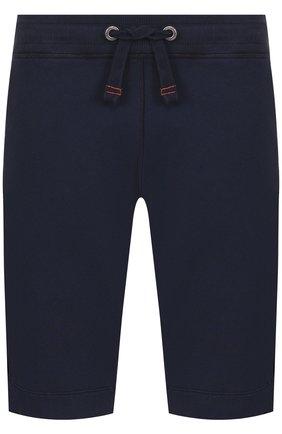Хлопковые шорты с поясом на кулиске Parajumpers темно-синие   Фото №1