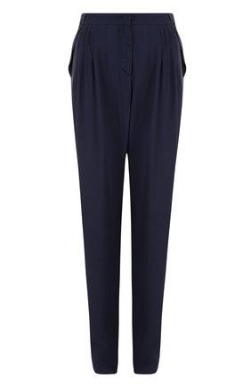 Однотонные брюки прямого кроя из вискозы   Фото №1