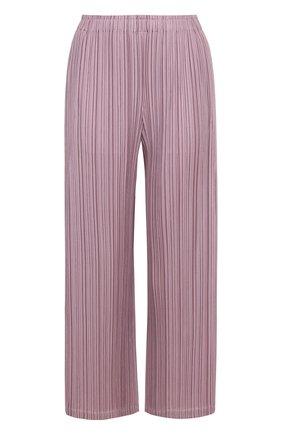 Укороченные плиссированные брюки прямого кроя   Фото №1