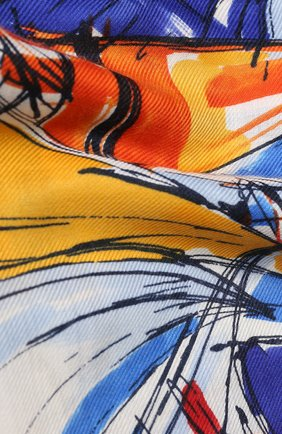 Женская шаль la giraglia из смеси кашемира и шелка LORO PIANA синего цвета, арт. FAI1065   Фото 2