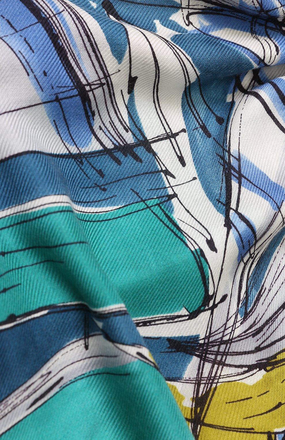 Женская шаль la giraglia из смеси кашемира и шелка LORO PIANA зеленого цвета, арт. FAI1065 | Фото 2