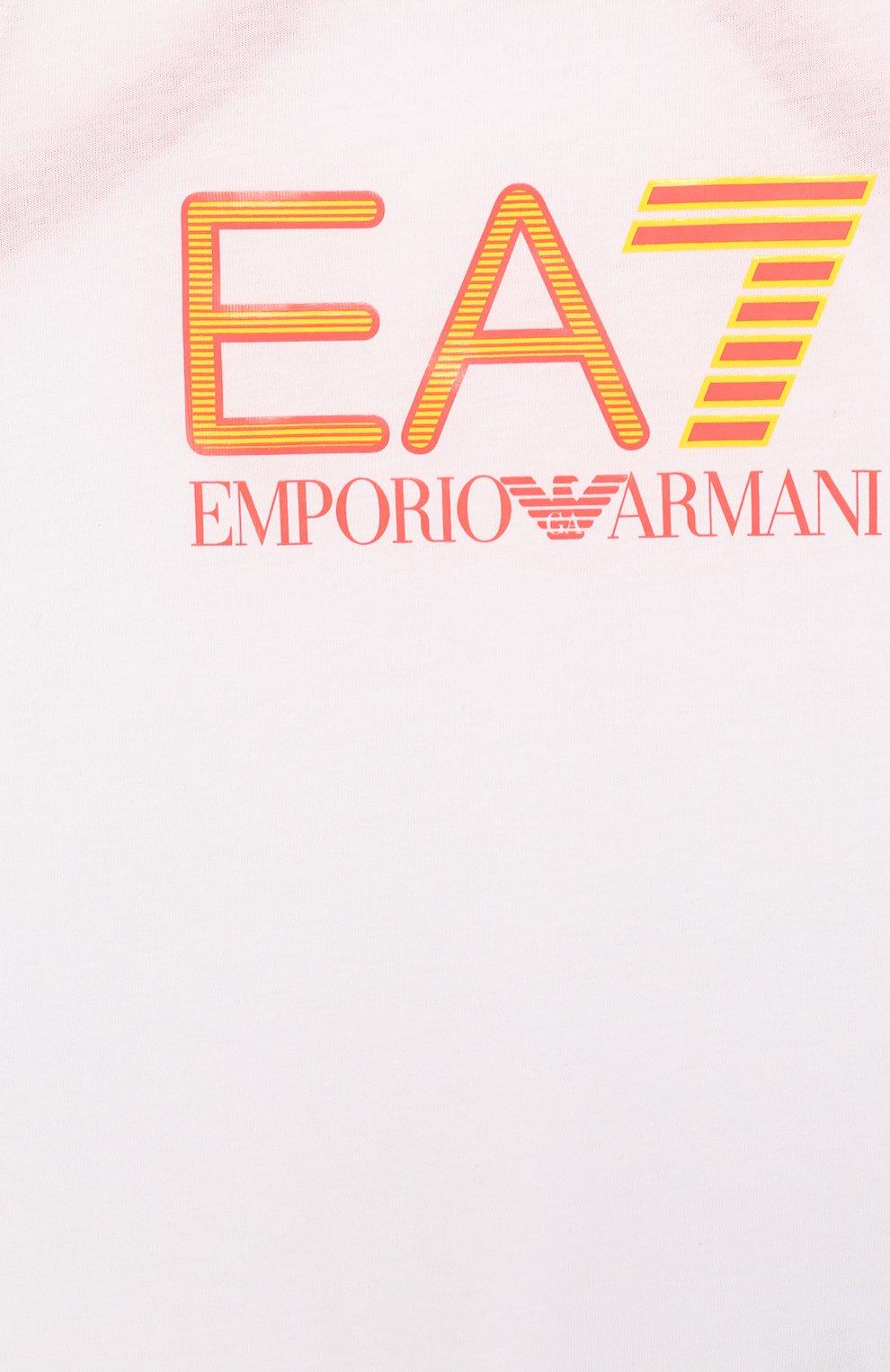 Хлопковая майка с логотипом бренда | Фото №3
