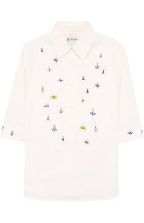 Хлопковая блуза с вышивкой | Фото №1
