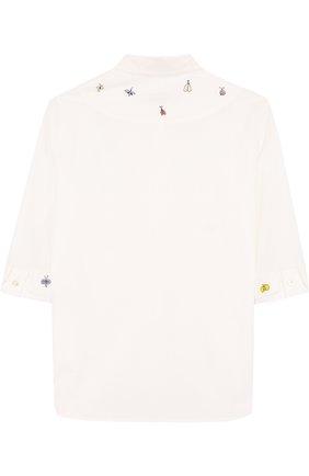 Хлопковая блуза с вышивкой | Фото №2