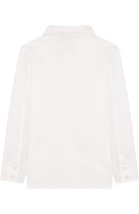 Детская льняная рубашки прямого кроя LORO PIANA белого цвета, арт. FAG1926 | Фото 2