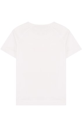 Детская хлопковая футболка с вышивкой LORO PIANA белого цвета, арт. FAI0800 | Фото 2