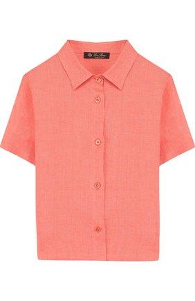 Льняная рубашки прямого кроя с короткими рукавами | Фото №1