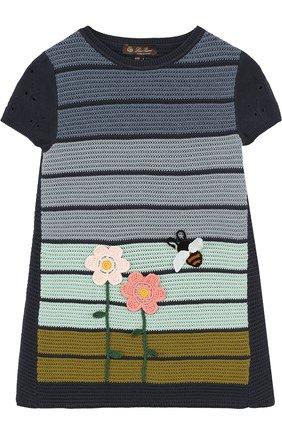 Мини-платье из смеси хлопка и шелка фактурной вязки | Фото №1