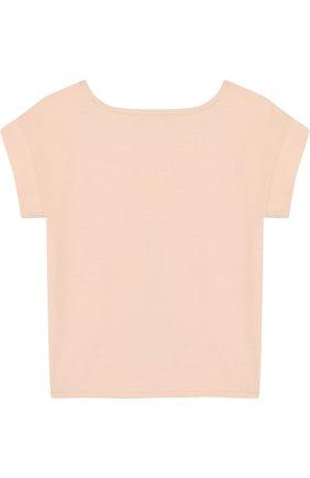 Детская хлопковая футболка с принтом LORO PIANA светло-розового цвета, арт. FAI0955 | Фото 2