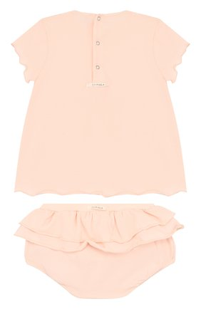 Детского хлопковый комплект из топа и трусов LA PERLA розового цвета, арт. 50057/18M-24M | Фото 2