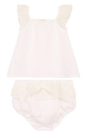 Детский льняной комплект из топа и трусов LA PERLA белого цвета, арт. 50597/18M-24M | Фото 2