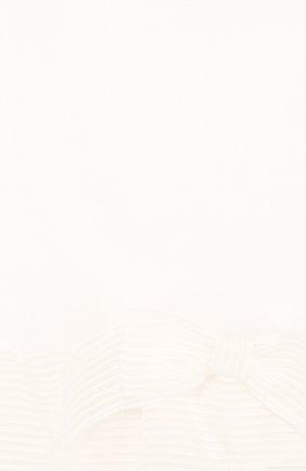 Детское льняной боди с баской и бантом LA PERLA белого цвета, арт. 50617/3M-12M | Фото 3