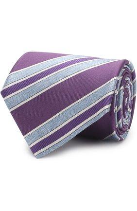 Мужской шелковый галстук BRIONI фиолетового цвета, арт. 063H00/P7493 | Фото 1 (Статус проверки: Проверено; Материал: Текстиль; Принт: С принтом)