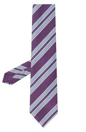 Мужской шелковый галстук BRIONI фиолетового цвета, арт. 063H00/P7493 | Фото 2 (Статус проверки: Проверено; Материал: Текстиль; Принт: С принтом)