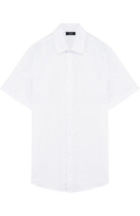 Детская рубашка из смеси хлопка и льна DAL LAGO белого цвета, арт. N403/8407/XS-L   Фото 1