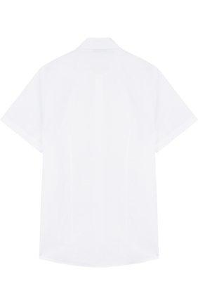 Детская рубашка из смеси хлопка и льна DAL LAGO белого цвета, арт. N403/8407/XS-L   Фото 2