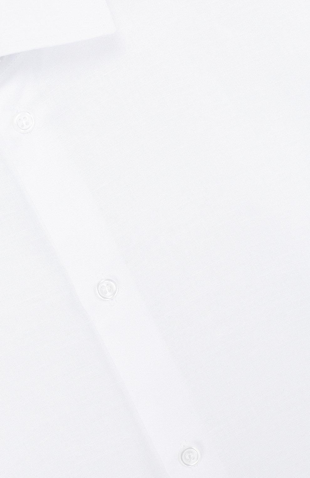 Детская рубашка из смеси хлопка и льна DAL LAGO белого цвета, арт. N403/8407/XS-L   Фото 3