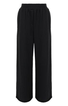 Однотонные хлопковые брюки с карманами T by Alexander Wang черные | Фото №1