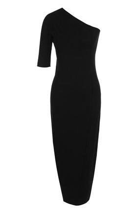 Однотонное платье-футляр из вискозы   Фото №1