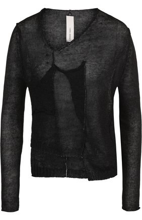 Пуловер с V-образным вырезом из льна | Фото №1
