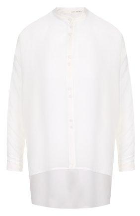 Блуза асимметричного кроя из смеси хлопка и шелка | Фото №1