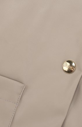 Жакет на кнопках с круглым вырезом Herno серого цвета   Фото №3