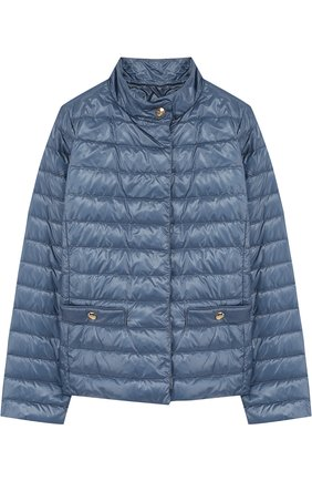 Пуховая куртка с воротником-стойкой   Фото №1
