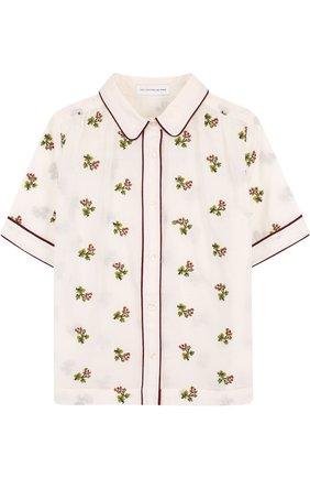 Блуза прямого кроя с вышивкой | Фото №1