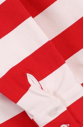Хлопковая мини-юбка в полоску с декоративным поясом | Фото №3