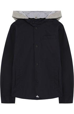 Куртка на пуговицах с капюшоном   Фото №1