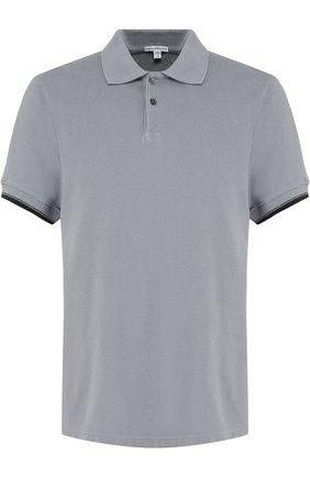 Мужское хлопковое поло с короткими рукавами JAMES PERSE серого цвета, арт. MHCP3151TA | Фото 1