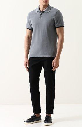 Мужское хлопковое поло с короткими рукавами JAMES PERSE серого цвета, арт. MHCP3151TA | Фото 2