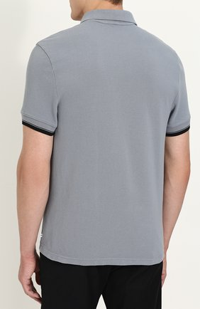 Мужское хлопковое поло с короткими рукавами JAMES PERSE серого цвета, арт. MHCP3151TA | Фото 4