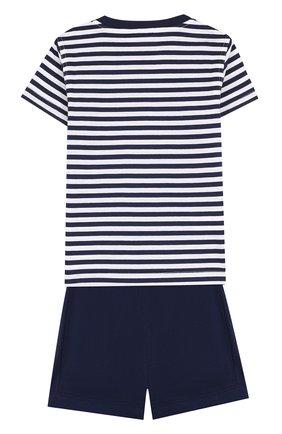 Детский хлопковый комплект из футболки и шорт IL GUFO темно-синего цвета, арт. P18DP1P2M1067/12M-18M | Фото 2